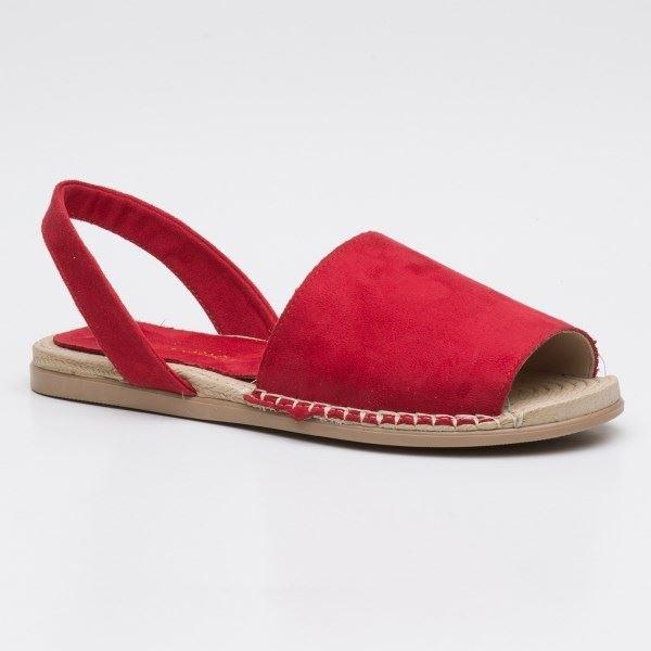 Alanzo Sandalet Kırmızı-Süet