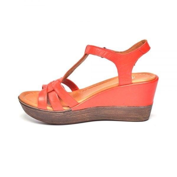 Cerelia Deri Sandalet Kırmızı