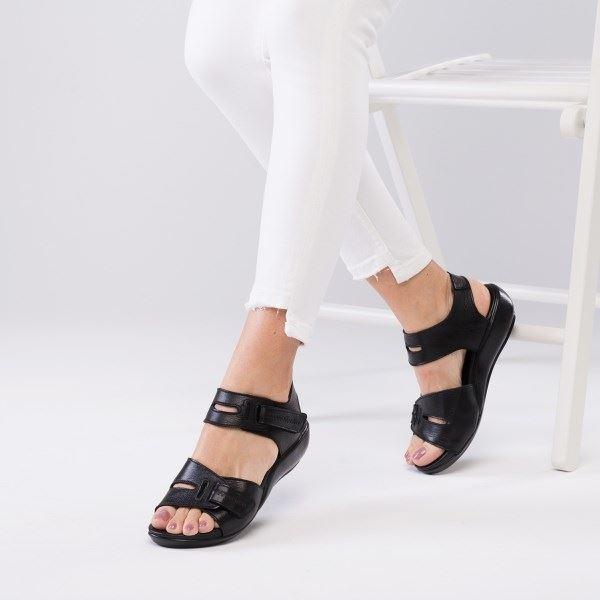 Orso Ortopedik Sandalet Siyah