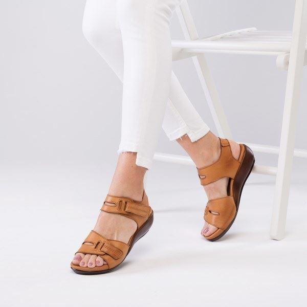 Orso Ortopedik Sandalet Taba