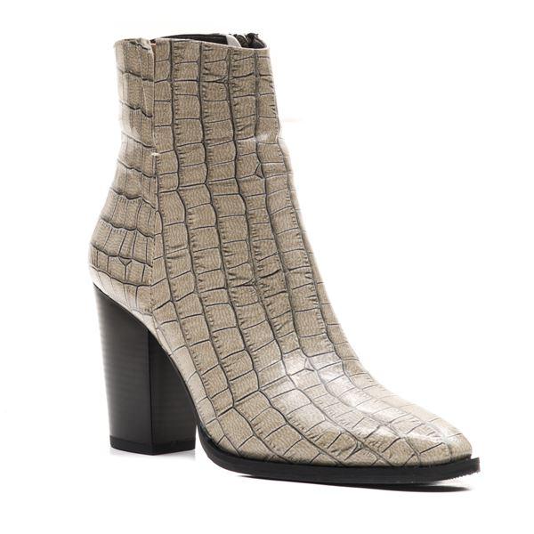 Lupita Kadın Bot Beyaz Kroko