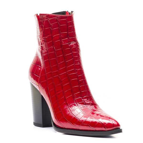 Lupita Kadın Bot Kırmızı Kroko