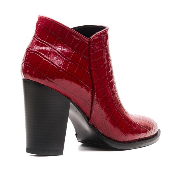 Lindy Kadın Bot Kırmızı Kroko