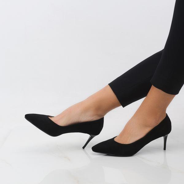 Gratia Kadın Stiletto Siyah Süet