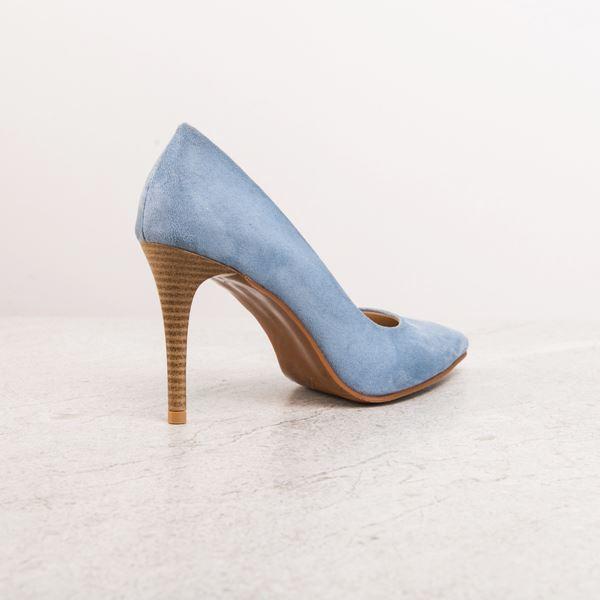 Marita Kadın Stiletto Mavi Süet
