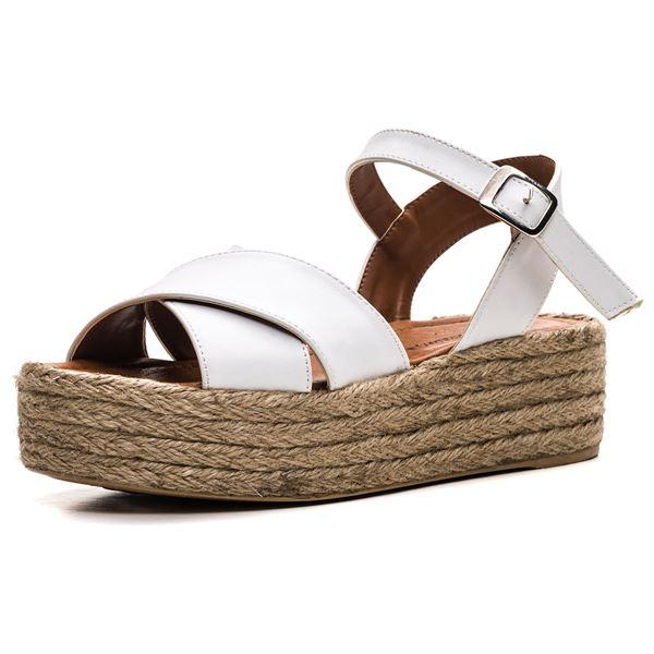 Fidel Kadın Sandalet Beyaz