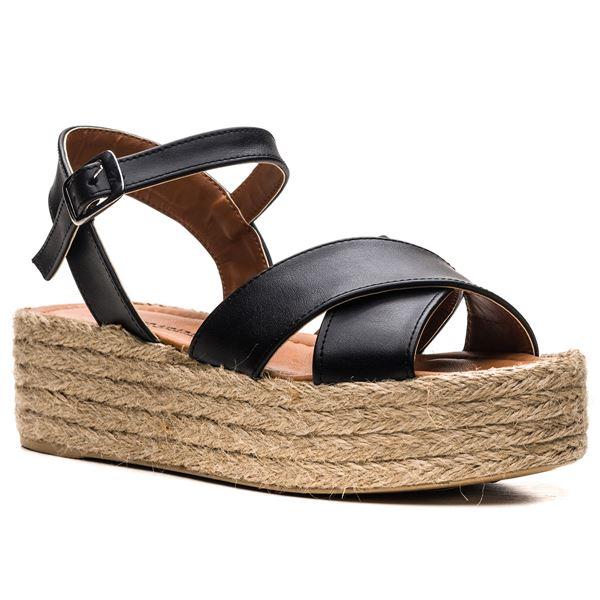Fidel Kadın Sandalet Siyah