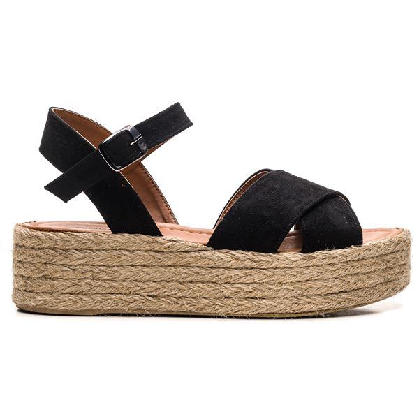 Fidel Kadın Sandalet Siyah Süet