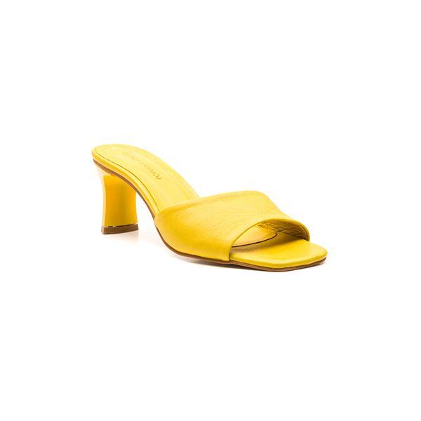 Flavio Kadın Deri Terlik Sarı