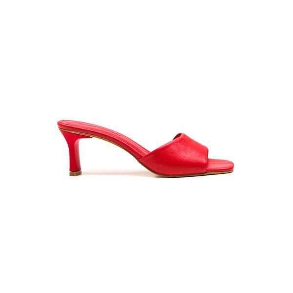 Flavio Kadın Deri Terlik Kırmızı
