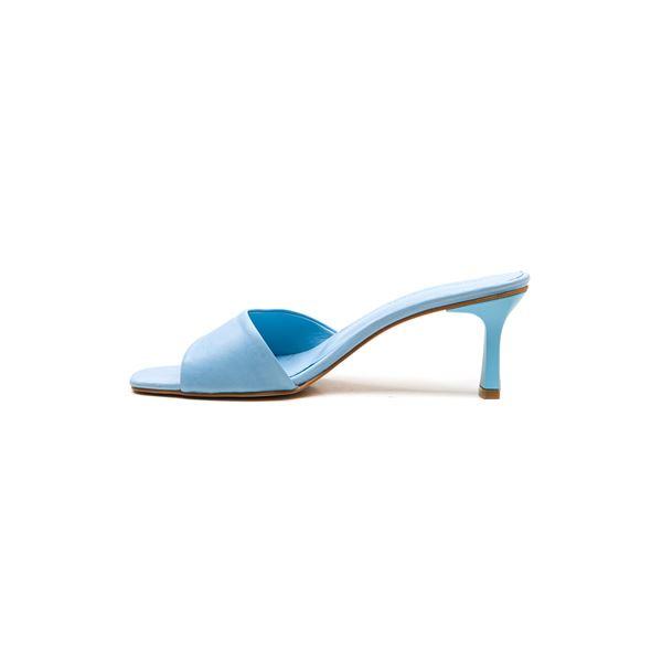 Flavio Kadın Deri Terlik Mavi