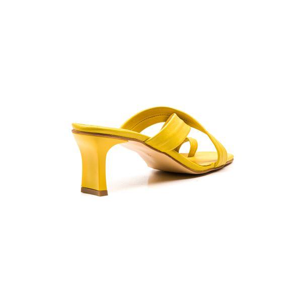 Gervasio Kadın Deri Terlik Sarı