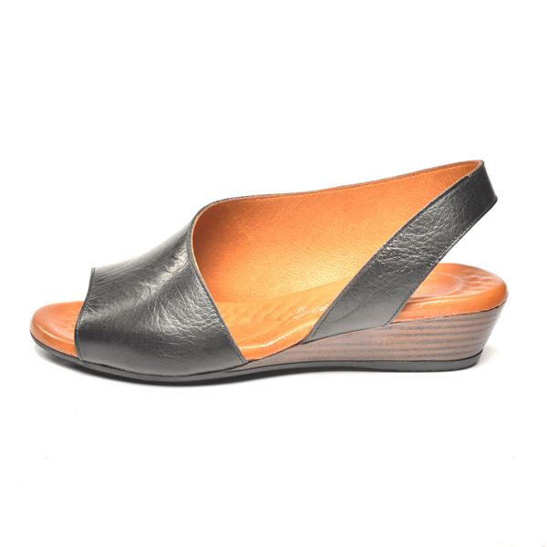 Nieve Kadın Deri Sandalet Siyah