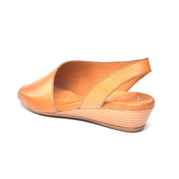 Nieve Kadın Deri Sandalet Taba