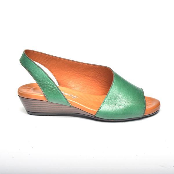 Nieve Kadın Deri Sandalet Yeşil