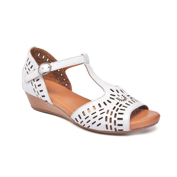 Pirro Kadın Deri Sandalet Beyaz