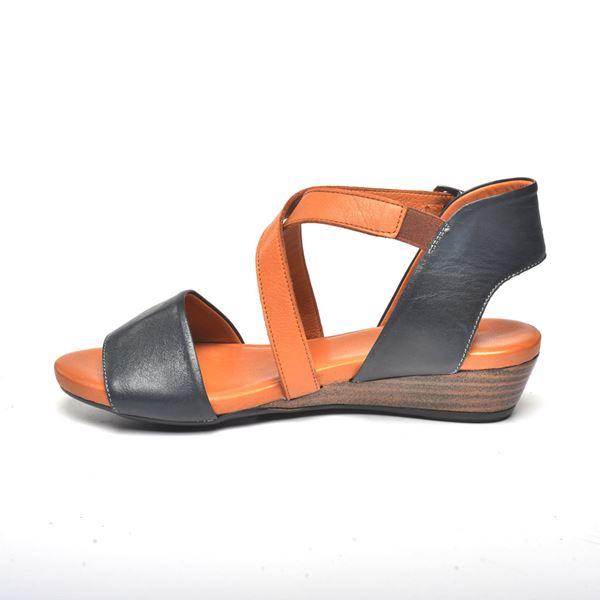 Verano Kadın Deri Sandalet Laci Taba