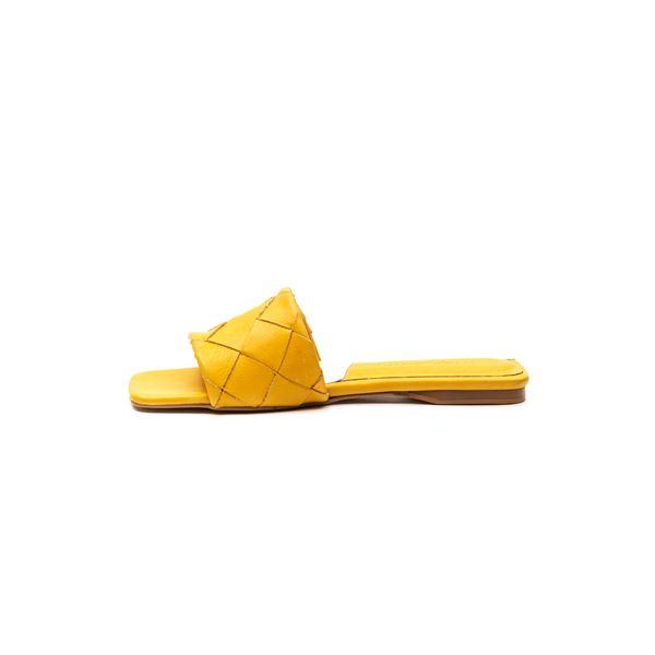 Agustin Kadın Deri Terlik Sarı