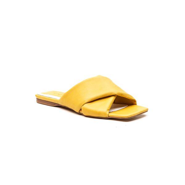 Andriano Kadın Deri Terlik Sarı
