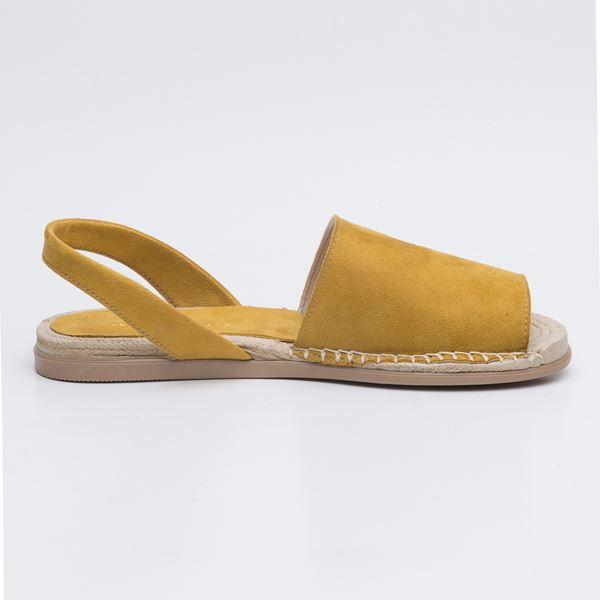 Alanzo Sandalet Sarı Süet