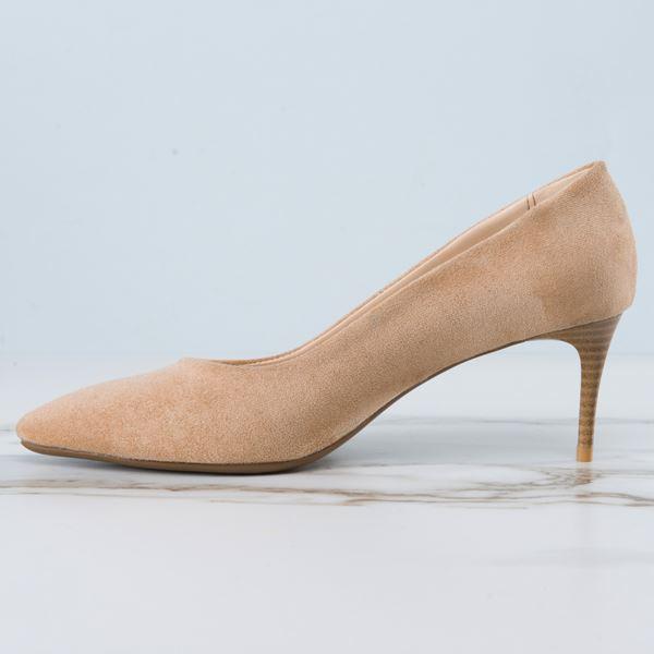 Gratia Kadın Stiletto Bej Süet