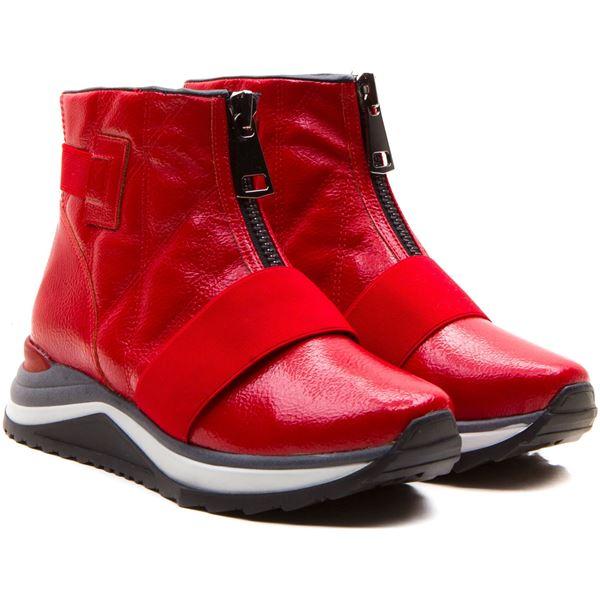 Abeline Kadın Bot Kırmızı Rugan