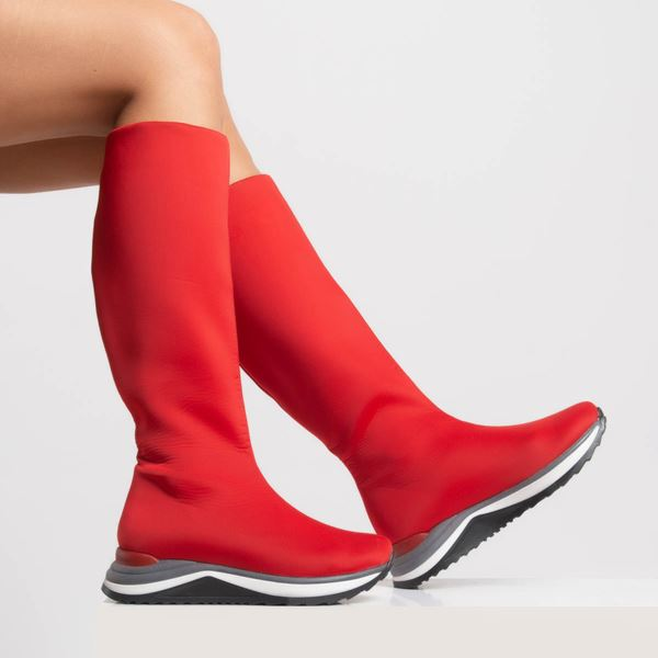 Abbenis Kadın Bot Kırmızı Dalgıç