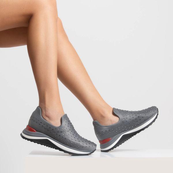Berthe Kadın Ayakkabı Gri Dalgıç