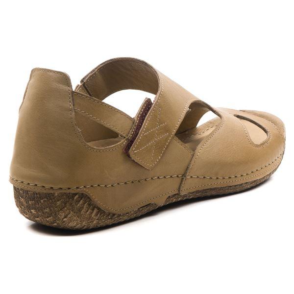 Alanna Kadın Deri Sandalet Kum