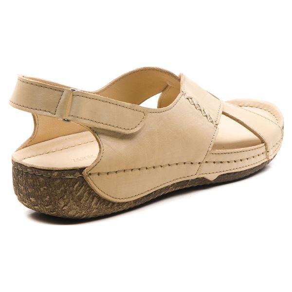 Alina Kadın Deri Sandalet Bej