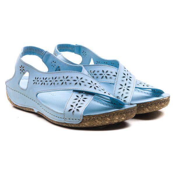 Adriel Kadın Deri Sandalet Bebe Mavi