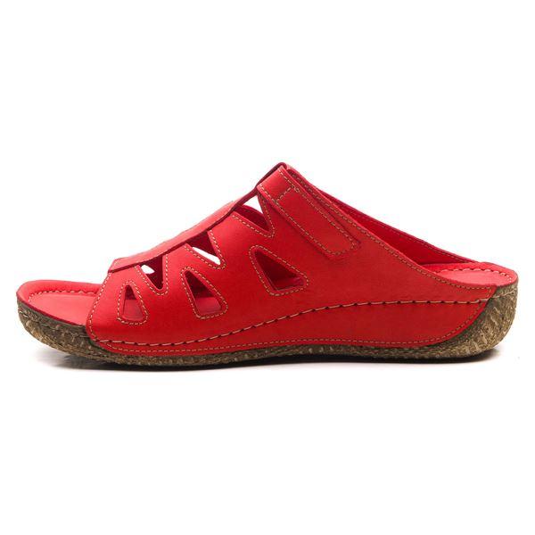 Arjun Kadın Deri Terlik Kırmızı