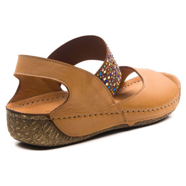 Avery Kadın Deri Sandalet Taba