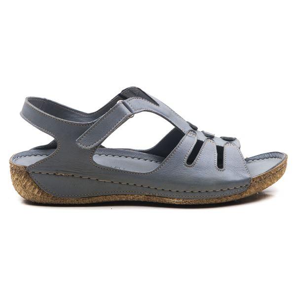 Angelo Kadın Deri Sandalet Gri