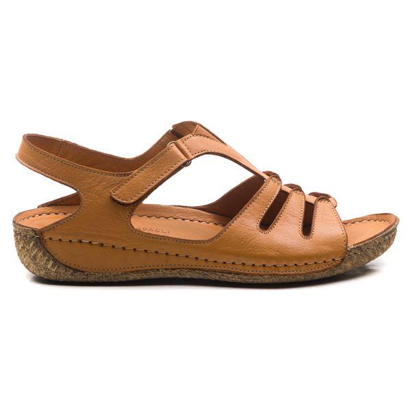 Angelo Kadın Deri Sandalet Taba