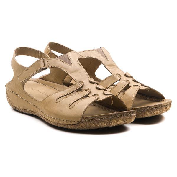 Angelo Kadın Deri Sandalet Kum