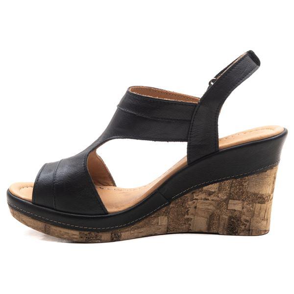 Aditya Kadın Dolgu Topuk Sandalet Siyah