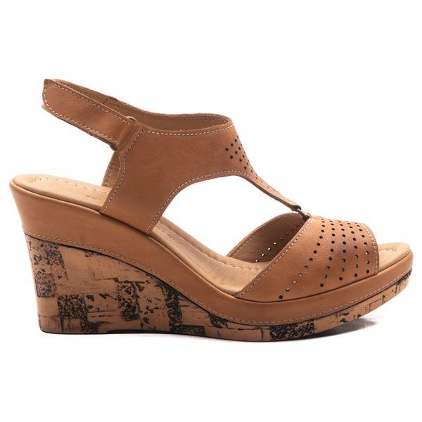 Anissa Kadın Dolgu Topuk Sandalet Taba