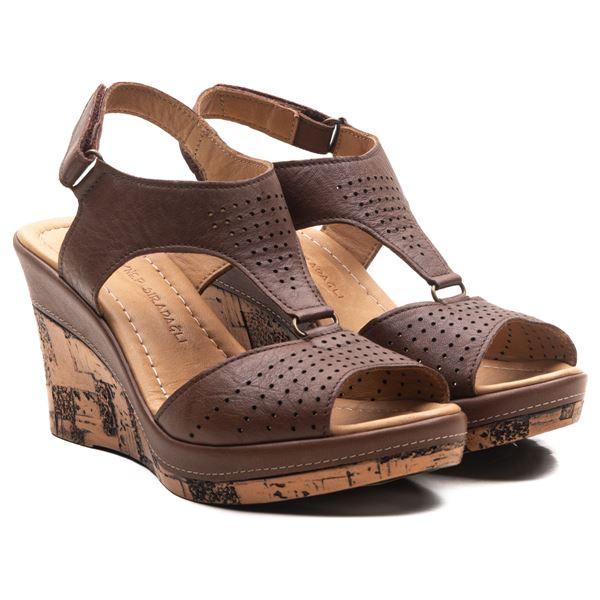 Anissa Kadın Dolgu Topuk Sandalet Kahve