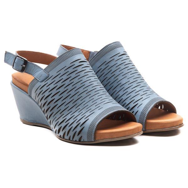 Aspen Kadın Dolgu Topuk Sandalet Mavi