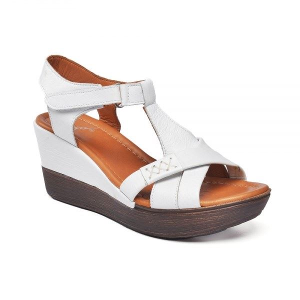 Daniele Deri Sandalet Beyaz