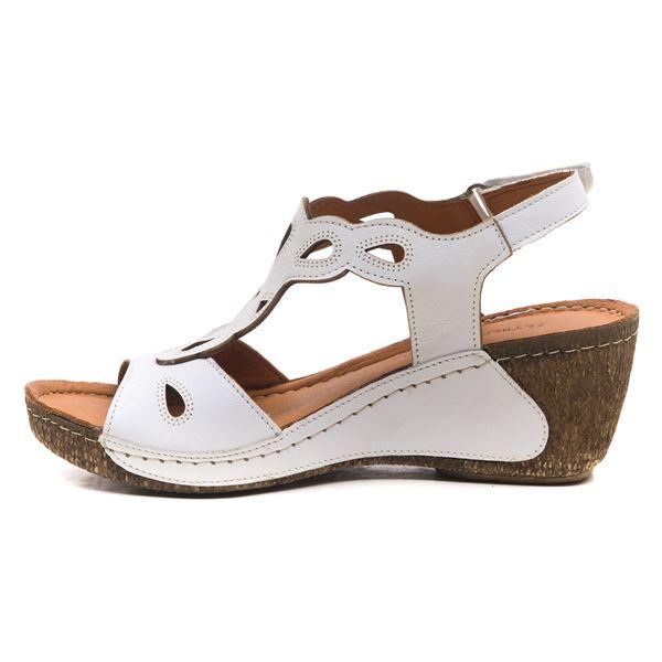 Alinda Kadın Dolgu Topuk Sandalet Beyaz