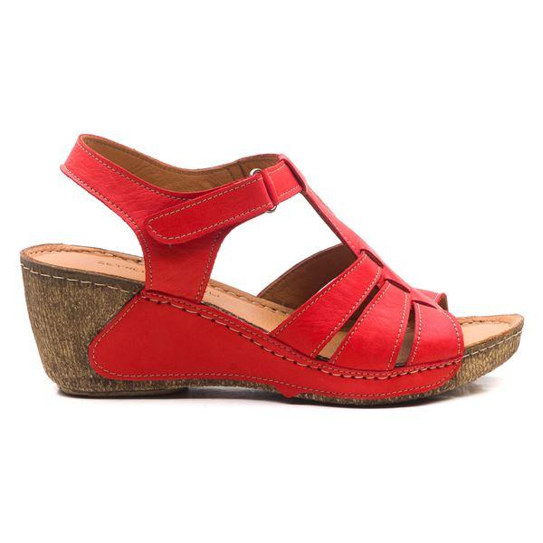 Mary Kadın Dolgu Topuk Sandalet Kırmızı