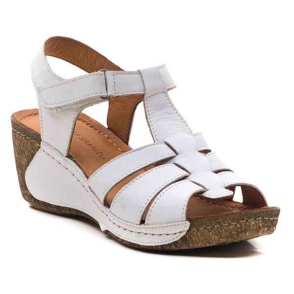 Mary Kadın Dolgu Topuk Sandalet Beyaz