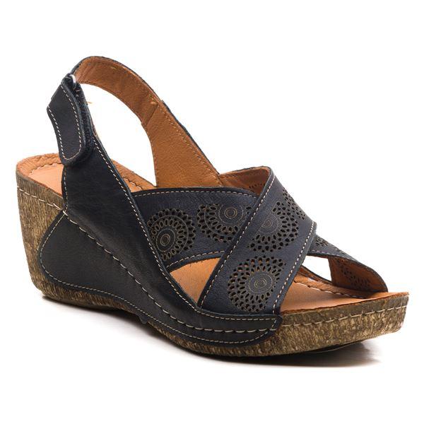 Noah Kadın Dolgu Topuk Sandalet Siyah