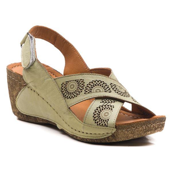 Noah Kadın Dolgu Topuk Sandalet Su Yeşili