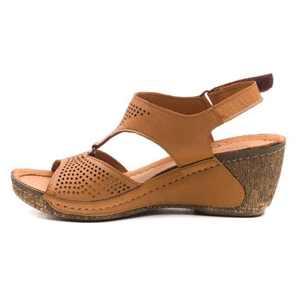 Joe Kadın Dolgu Topuk Sandalet Taba
