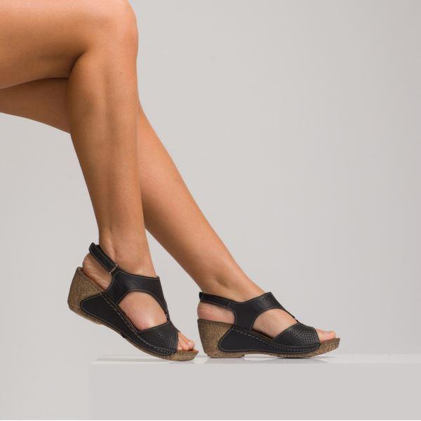 Joe Kadın Dolgu Topuk Sandalet Siyah