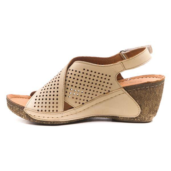 Harry Kadın Dolgu Topuk Sandalet Bej