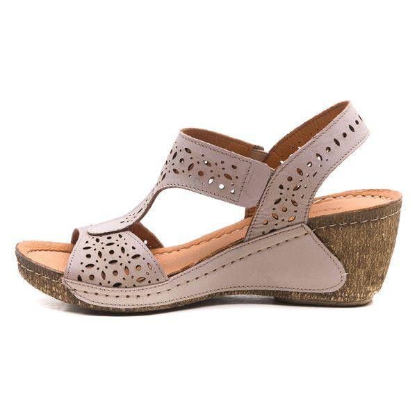 Mia Kadın Dolgu Topuk Sandalet Buz